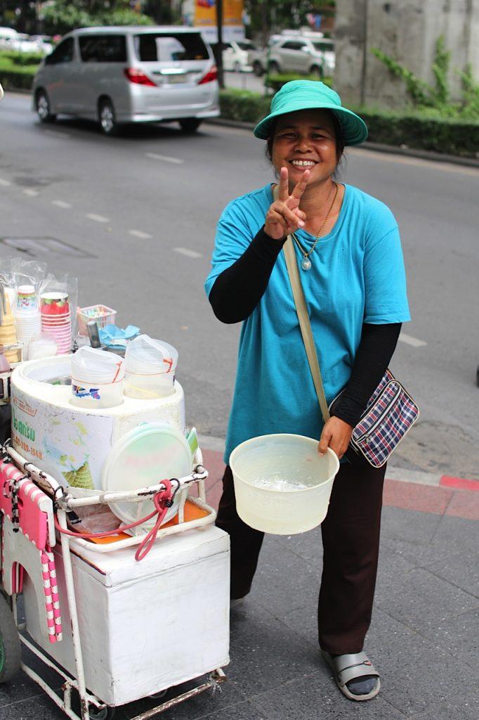 Coconut ice-cream Bangkok Thailand