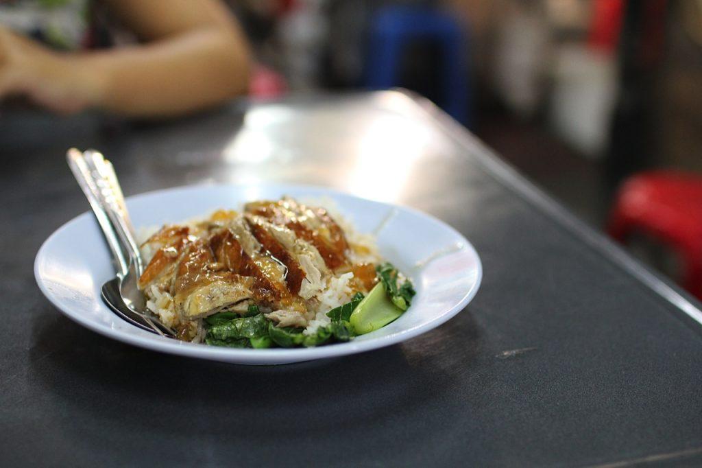 Duck on rice Chinatown Bangkok Thailand