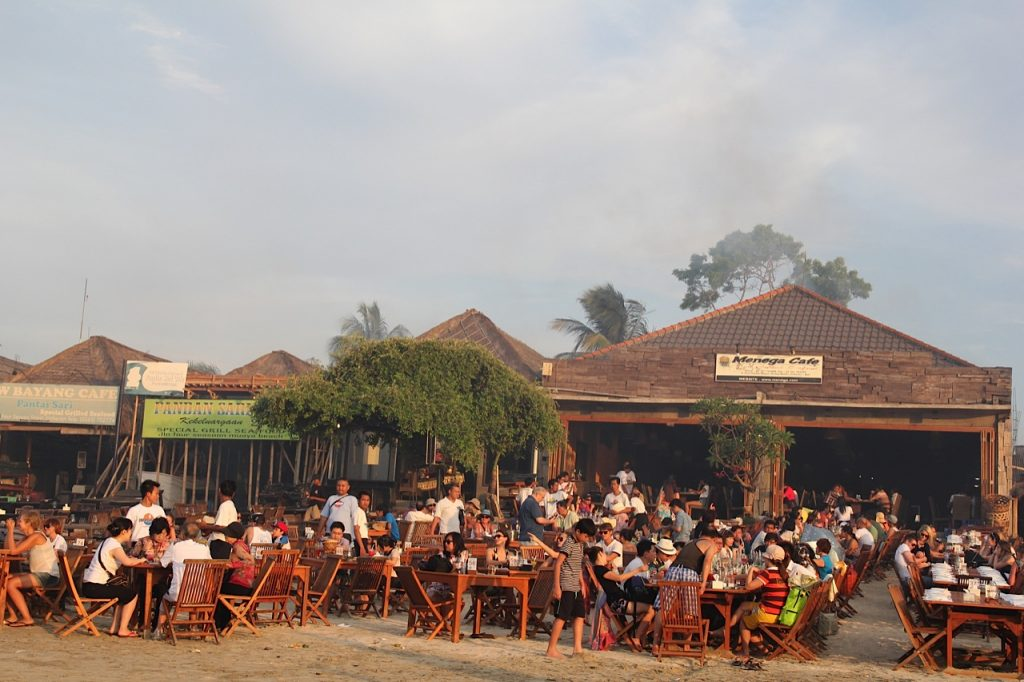 Jimbaran Bay restaurants: Menega cafe, Jimbaran Bay