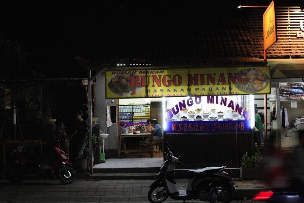 Jimbaran Bay restaurants: Bungo Minang shopfront