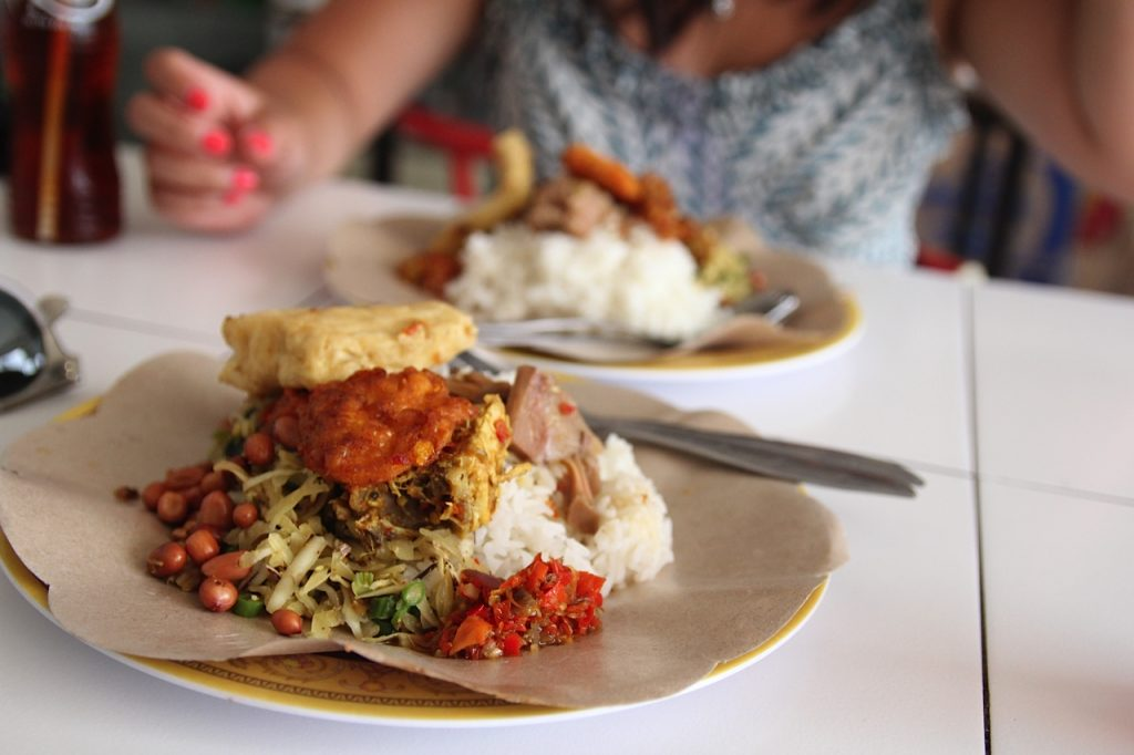Best restaurants in Bali: nasi campur at a warung