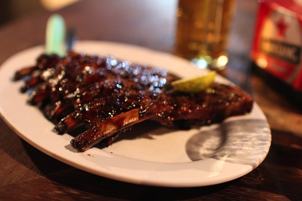 Ribs at Naughty Nuri's Ubud Bali
