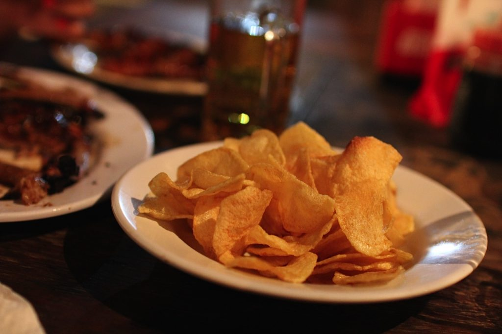Chips at Naughty Nuri's Ubud Bali