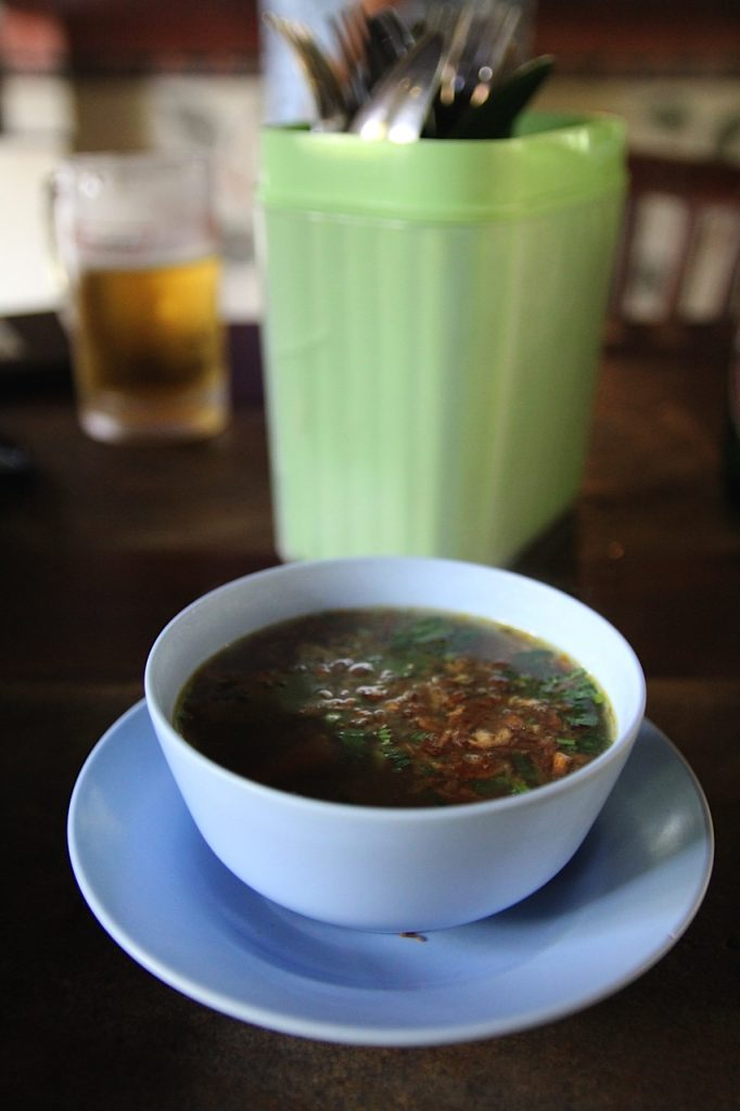 Best restaurants in Ubud: Pork soup,Ibu Oka, Ubud, Bali