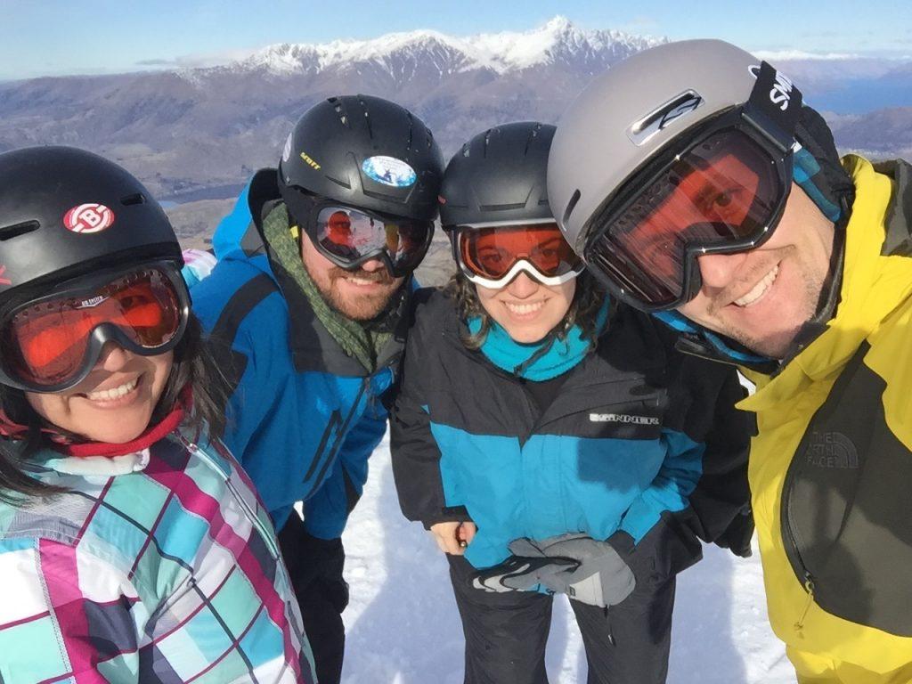 Skiing on Coronet Peak Queentown New Zealand skiing