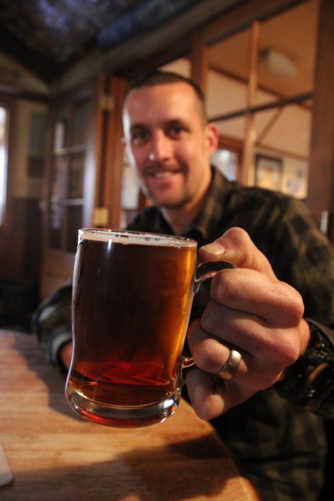 Beer at Cardrona Hotel Queenstown New Zealand