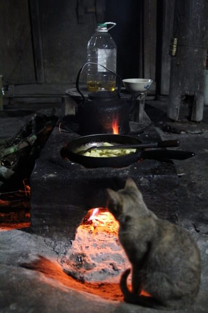 Cooking at a homestay, Sapa, Vietnam