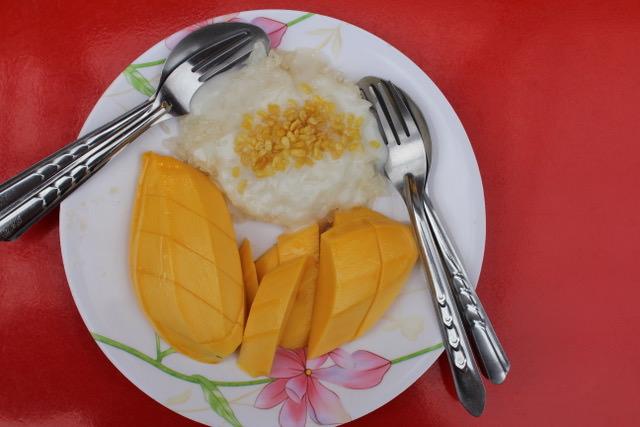 Mango sticky rice, Bangkok, Thailand