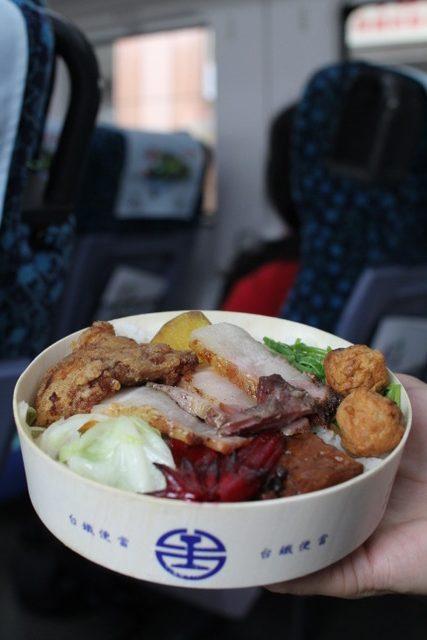 Taiwanese cuisine: TRA train bento, Taiwan