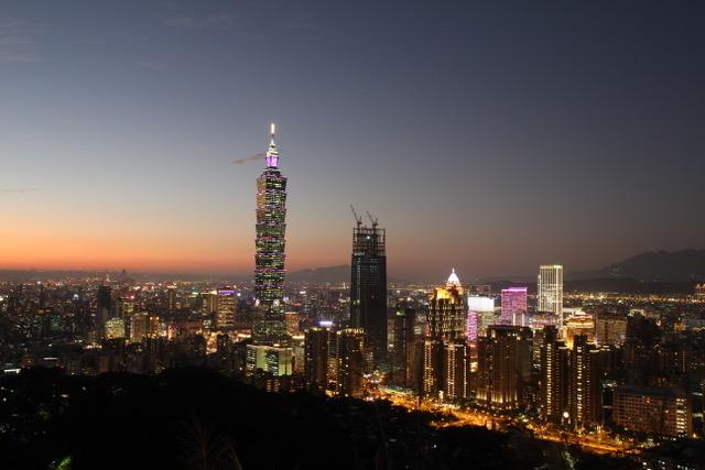 Taipei skyline from Elephant Mountain