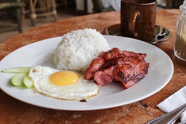 Pork tocino at Art Cafe, El Nido, Palawan, Philippines