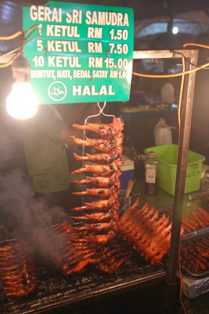 Chicken wings, Sinsuran Night Market, Kota Kinabalu