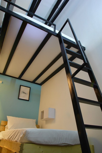 Where to stay in Singapore: A triple loft room at Project Boat Quay, 5 Foot Way Inn, Singapore