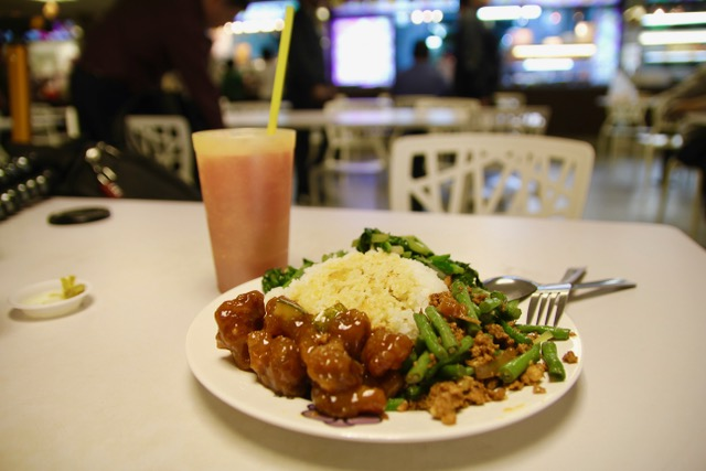 Staff Canteen meal, Changi Airport, Singapore