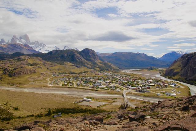 Patagonia Travel Guide: El Chalten town from Mirador de Los Condores, Patagonia, Argentina