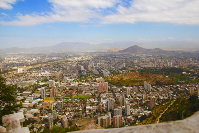 Things to do in Santiago: View of Santiago from San Cristobal Hill