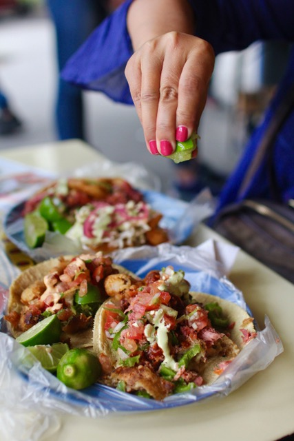 Mexico City food: tacos at El Pescadito