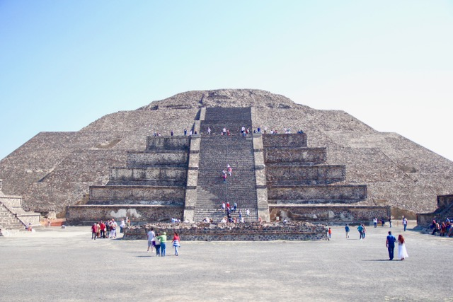 Places to visit Mexico City: The Pyramid of the Moon at Teotihuacan