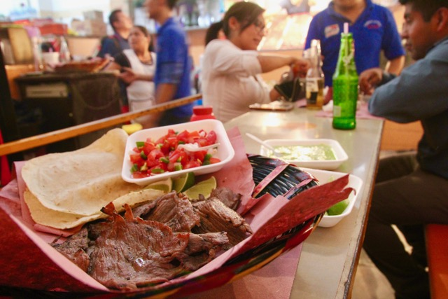 Oaxacan food: meat alley at Mercado 20 de Noviembre