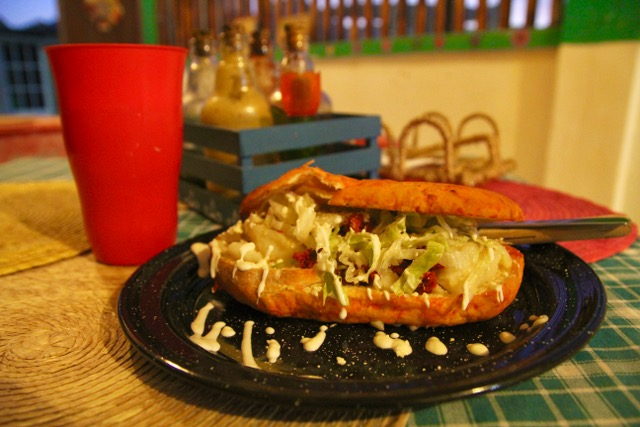 Where to eat on Isla Holbox: pambazo at La Chilanguita