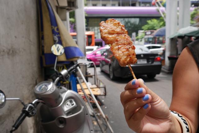 Thai street food: moo ping