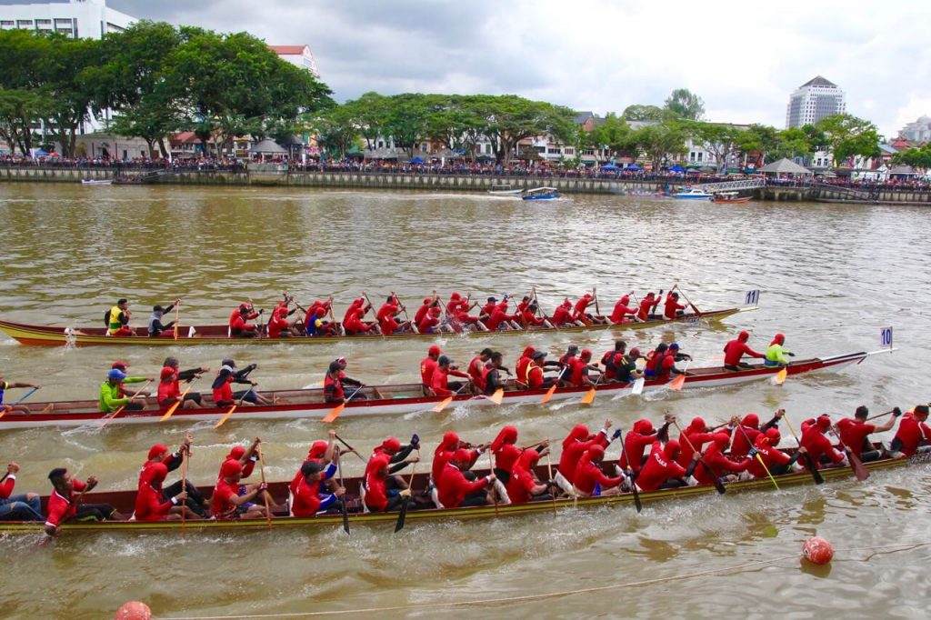 Competitors take to the water at the Sarawak Regatta 2017, Kuching Sarawak