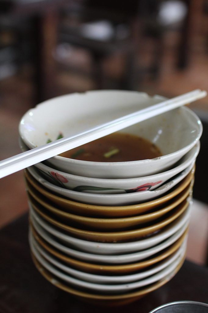 Boat noodles Bangkok Thailand