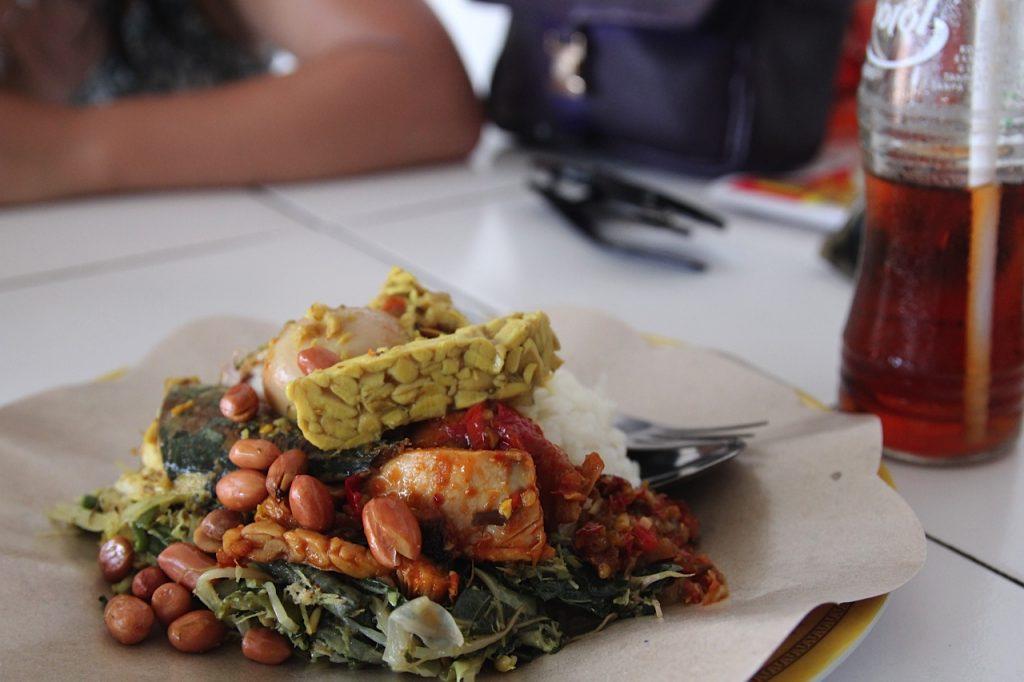 Jimbaran Bay restaurants: nasi campur, Jimbaran Bay, Bali
