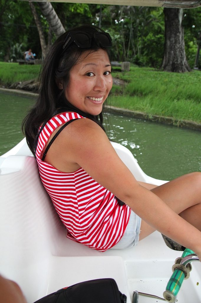 Lumphini Park Bangkok Sheena in swan paddle boat