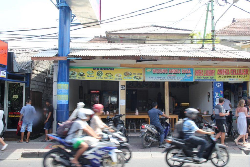 Best restaurants in Seminyak: Warung Aneka Rasa, Seminyak, Bali