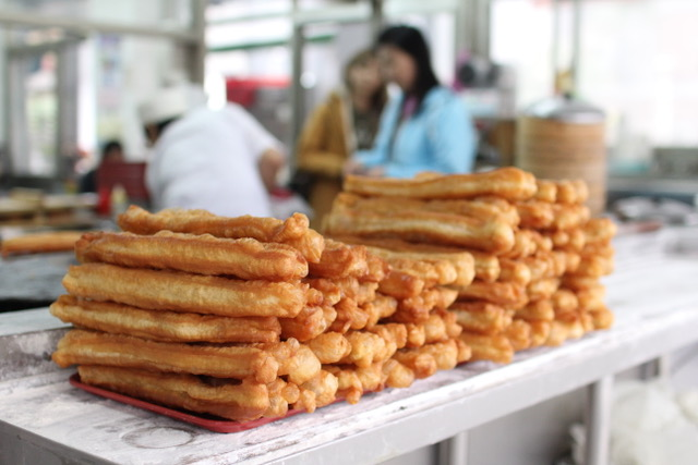 Taipei food: Tiao at Yonghe Soy Milk King, Taipei, Taiwan