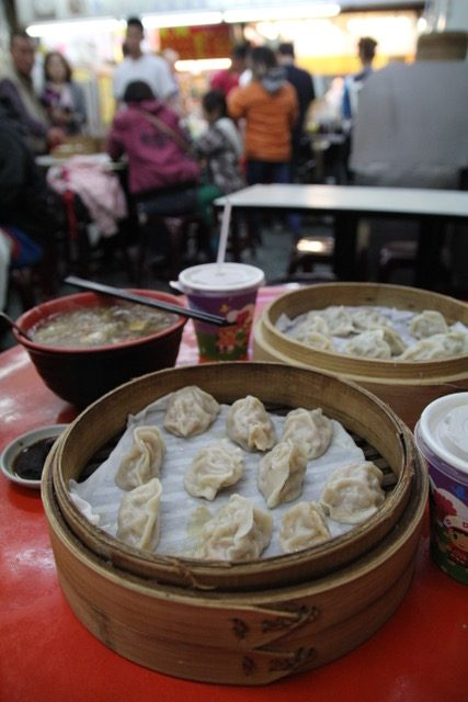 Hualien restaurants: Dumplings at Zhoujia Steamed Dumplings, Hualien