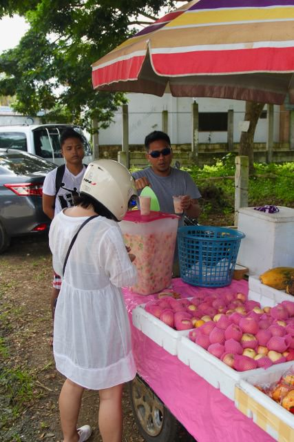 Ordering a fruit chiller in Bohol, Philippines