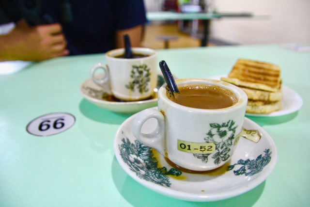 Old Airport Road Food Centre: kaya toast and kopi from Toast Hut