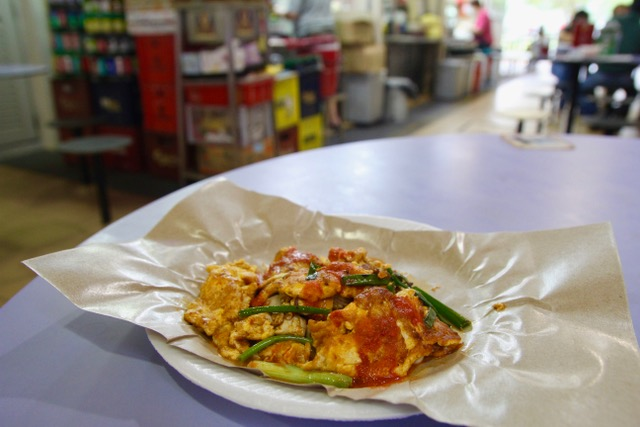 Old Airport Road Food Centre: oyster omelette from Xing Ling Cooked Food