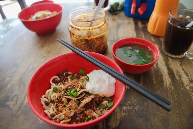 Chilli pan mee at Restoran Kin Kin, Kuala Lumpur, Malaysia