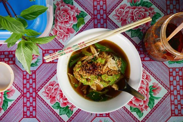 Thai street food: noodle soups