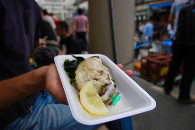 Tsukiji Fish Market oyster