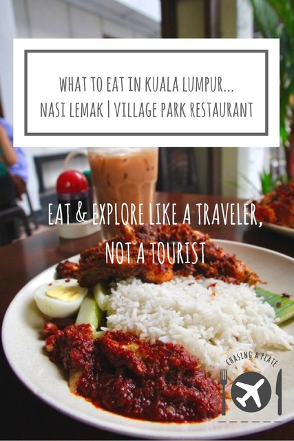What to eat in Kuala Lumpur- nasi lemak at Village Park