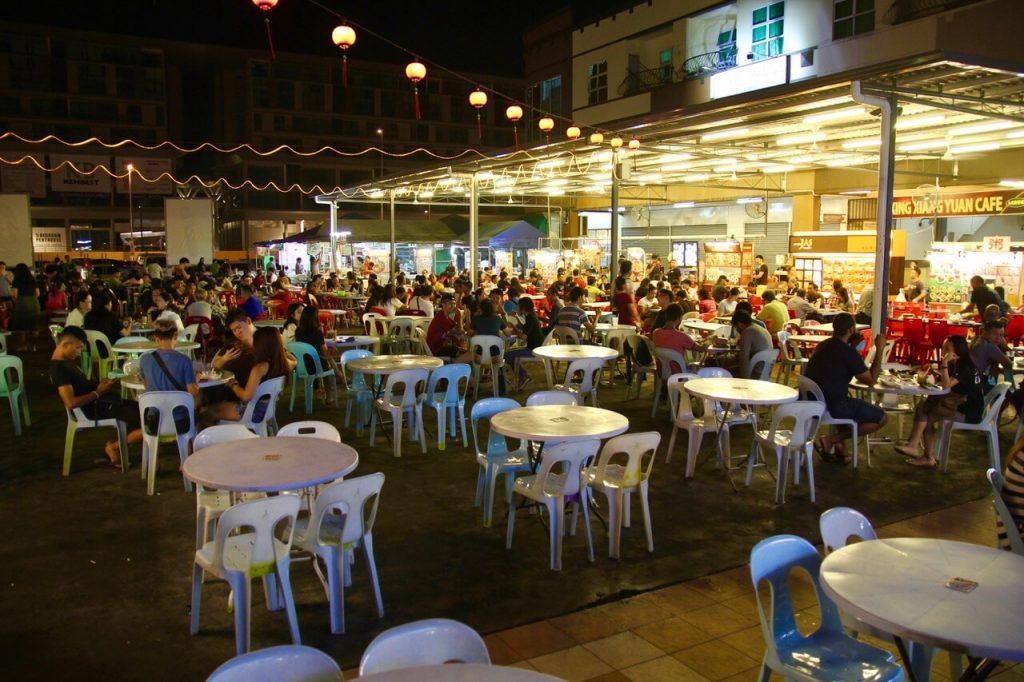 Hungry diners at Premier 101, Kuching, Sarawak