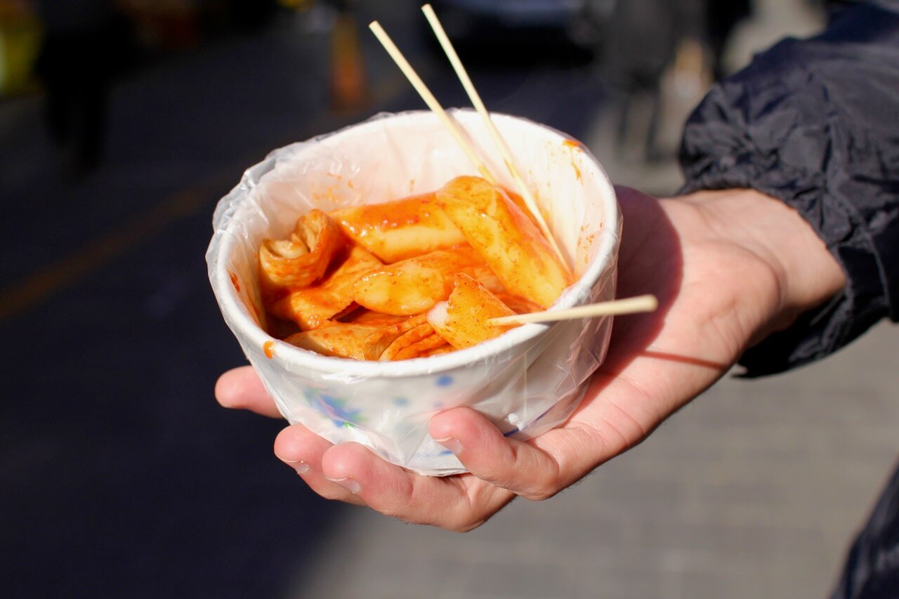 Korean street food at Namdaemun Market, Seoul, South Korea
