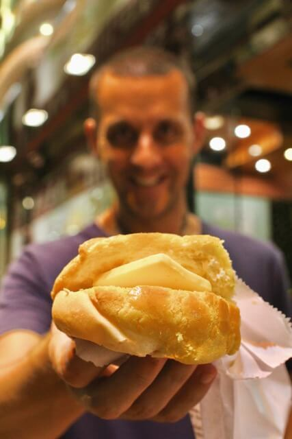 Top iconic food experience in Hong Kong: pineapple bun